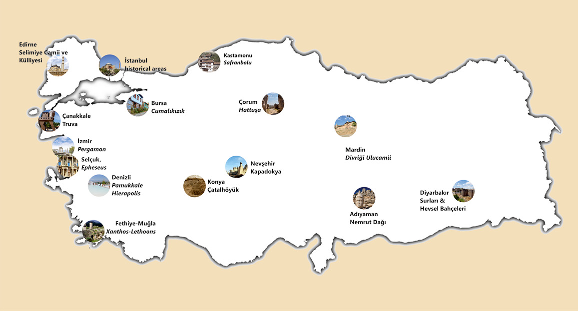 World Heritage in Turkey (that is on the UNESCO World Heritage List)